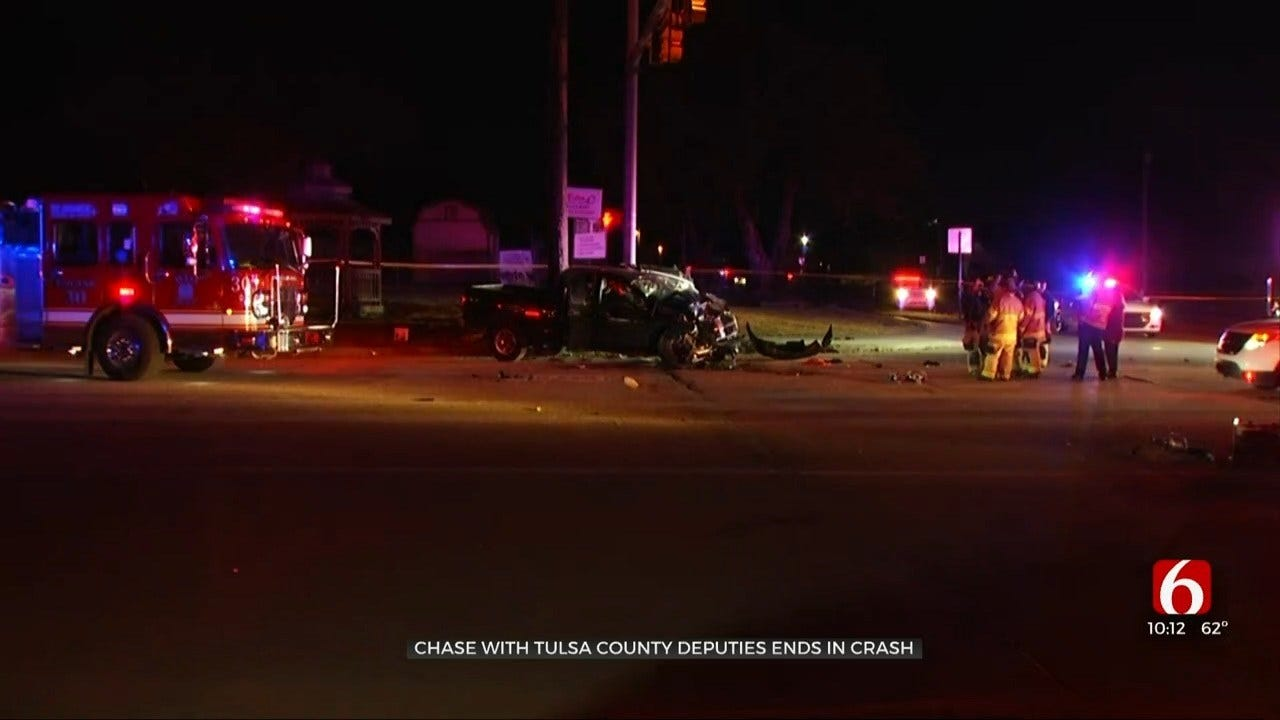 Tulsa County Pursuit Ends In Fatal Crash