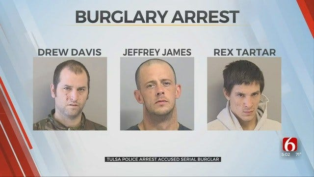 Tulsa Police Say City Is Safer With 3 Serial Burglars Behind Bars