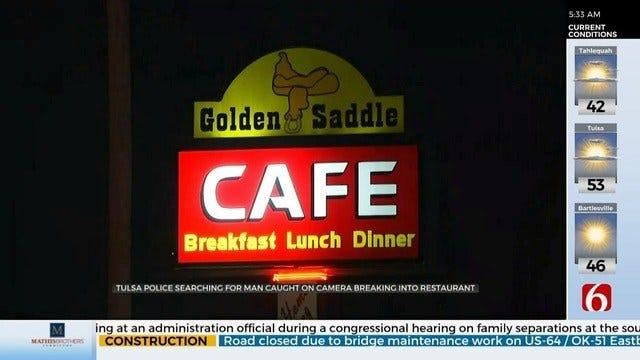 Tulsa Police Search For Restaurant Burglar