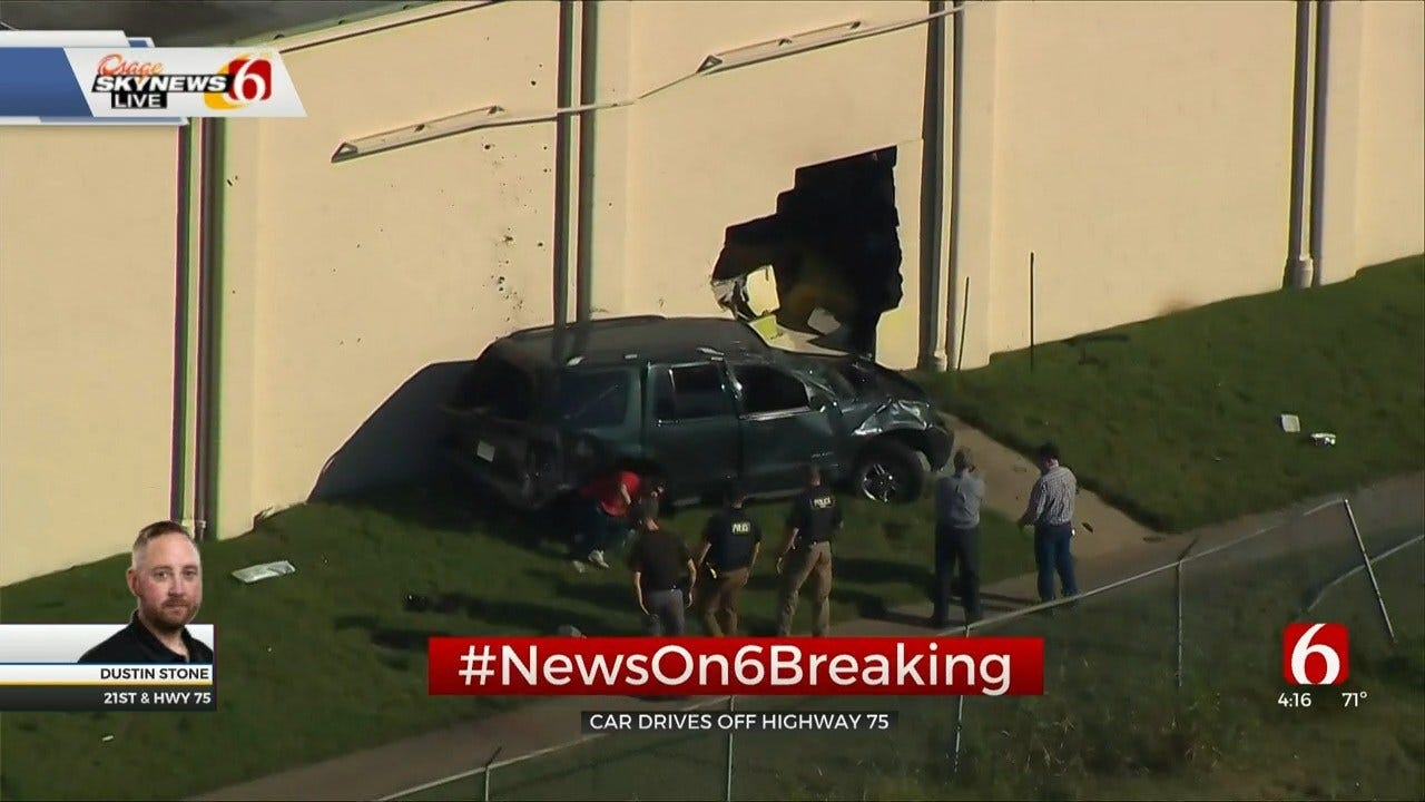 Vehicle Crashes Into Building Off Highway 75