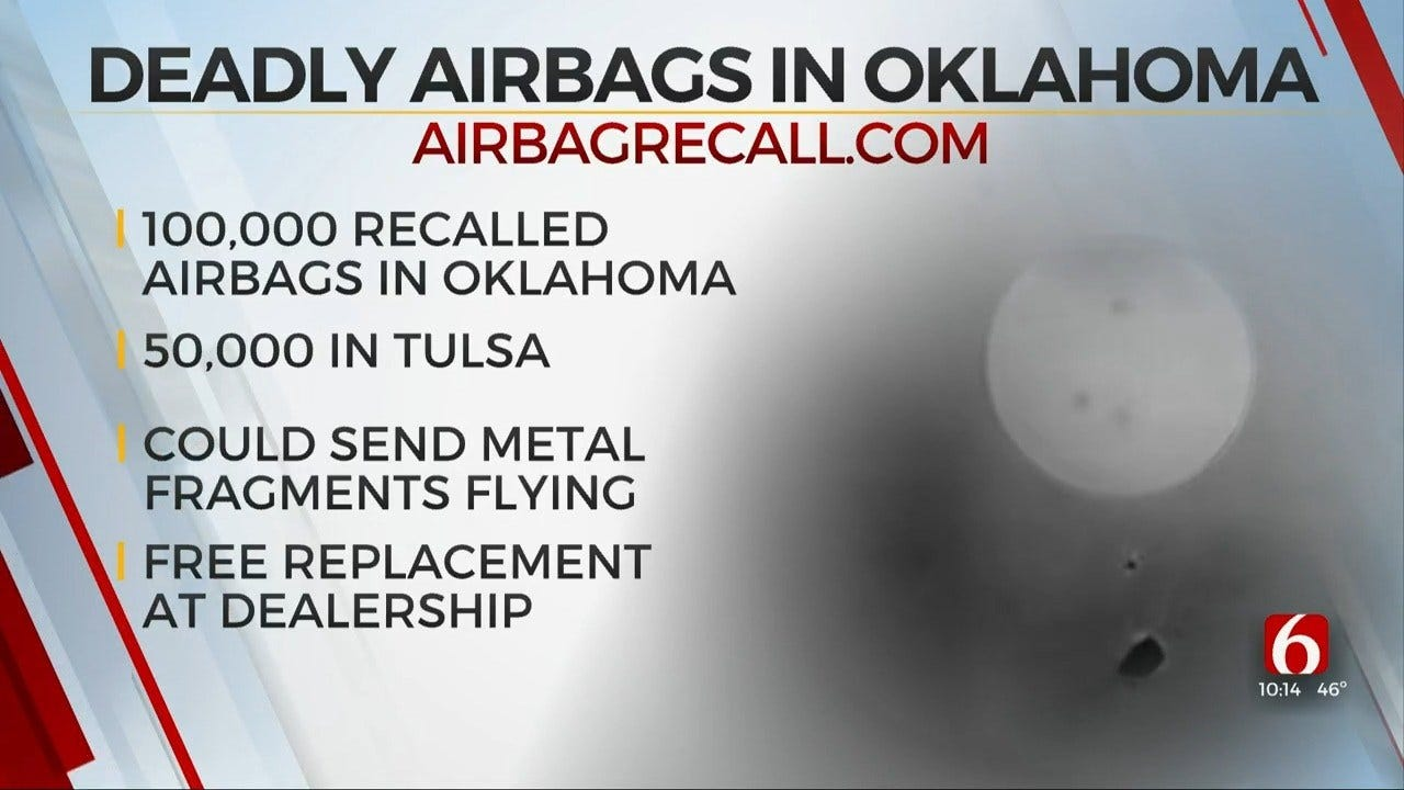Report: 100,000 Oklahomans Have Possible Faulty Airbags