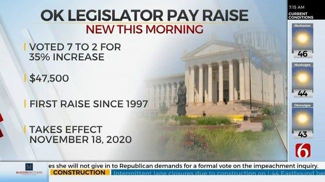 Legislative Compensation Board Votes To Raise Lawmakers' Pay