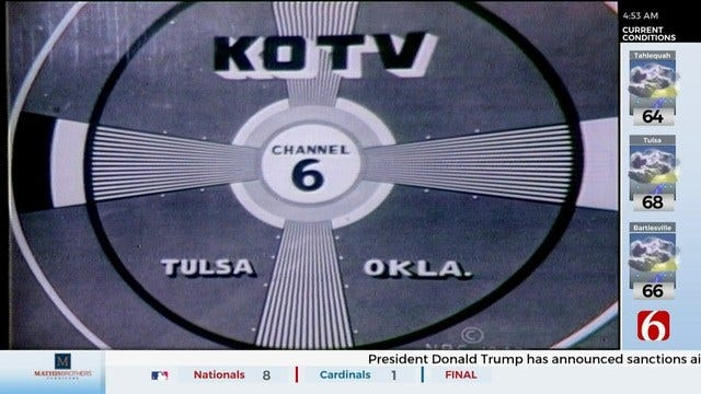WATCH: Tuesday Marks 70 Years Since TV Came To Tulsa