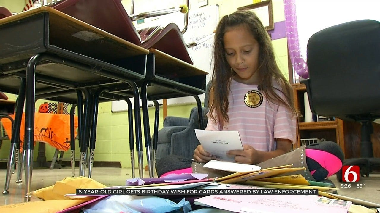 Oklahoma Girl Birthday Wish Answered By Highway Patrol, Receives Truck Load Of Gifts