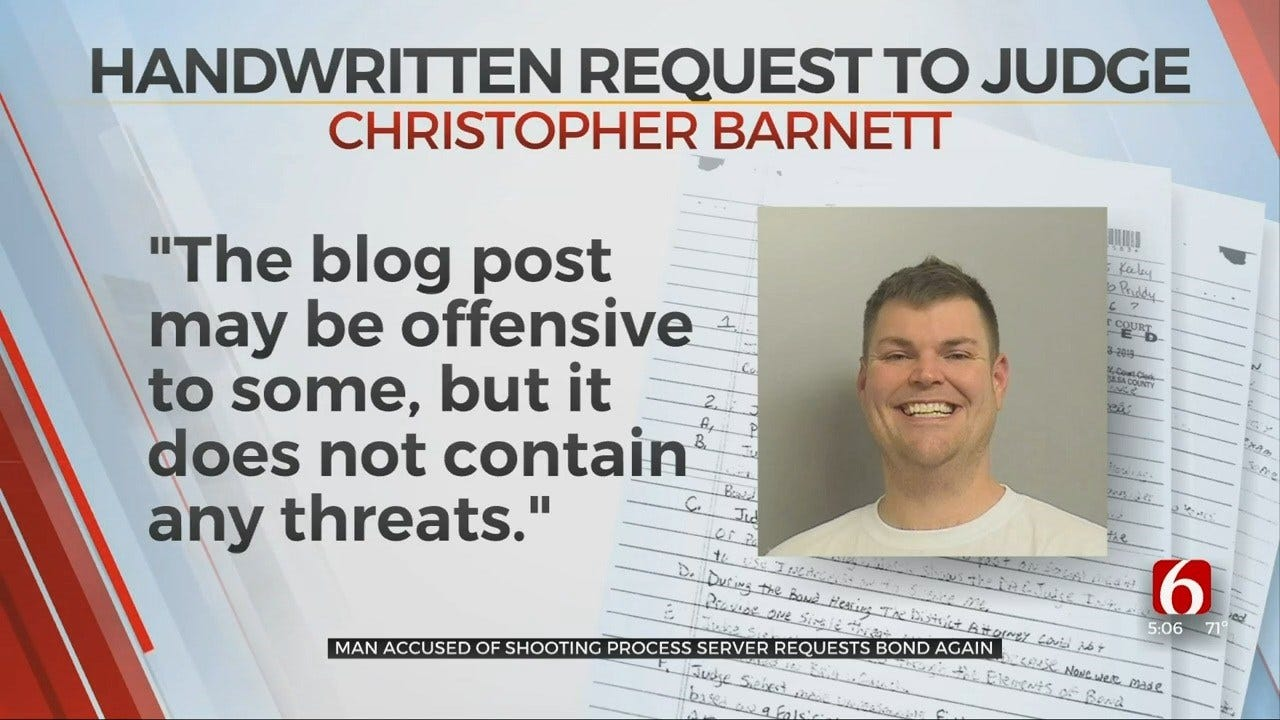 Accused Potential TU Mass Shooter Claims Blog Doesn't Contain Threats, Asks For Bond