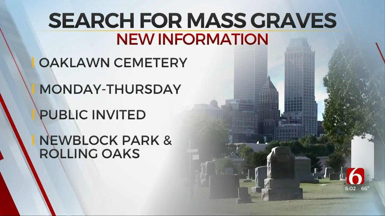 Tulsa Releases Schedule For Mass Graves Search