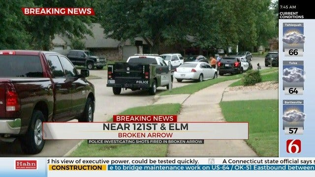 UPDATE: Police Investigate Shots Fired At Broken Arrow Home