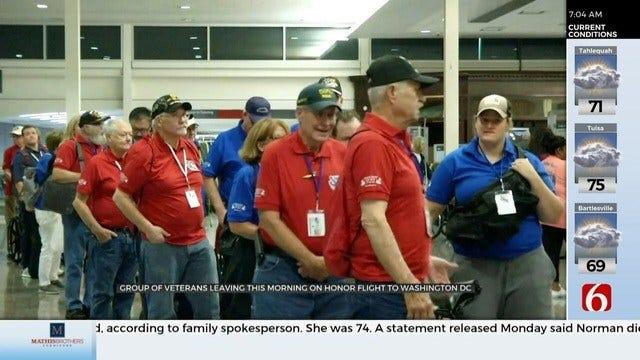 Oklahoma Veterans Take Honor Flight To Visit D.C.