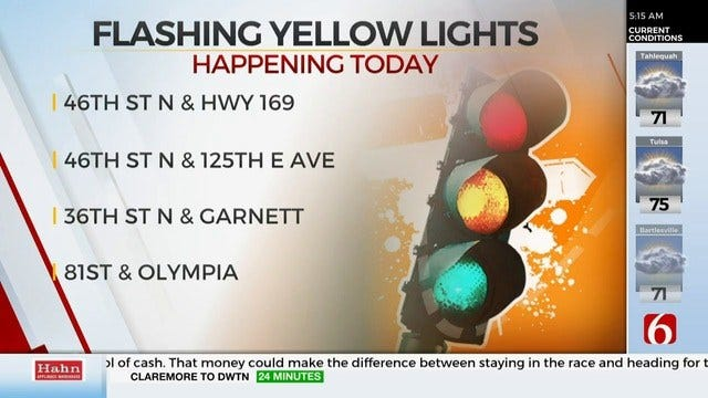 City Of Tulsa Starts Adding New Traffic Lights With Flashing Yellow Arrow