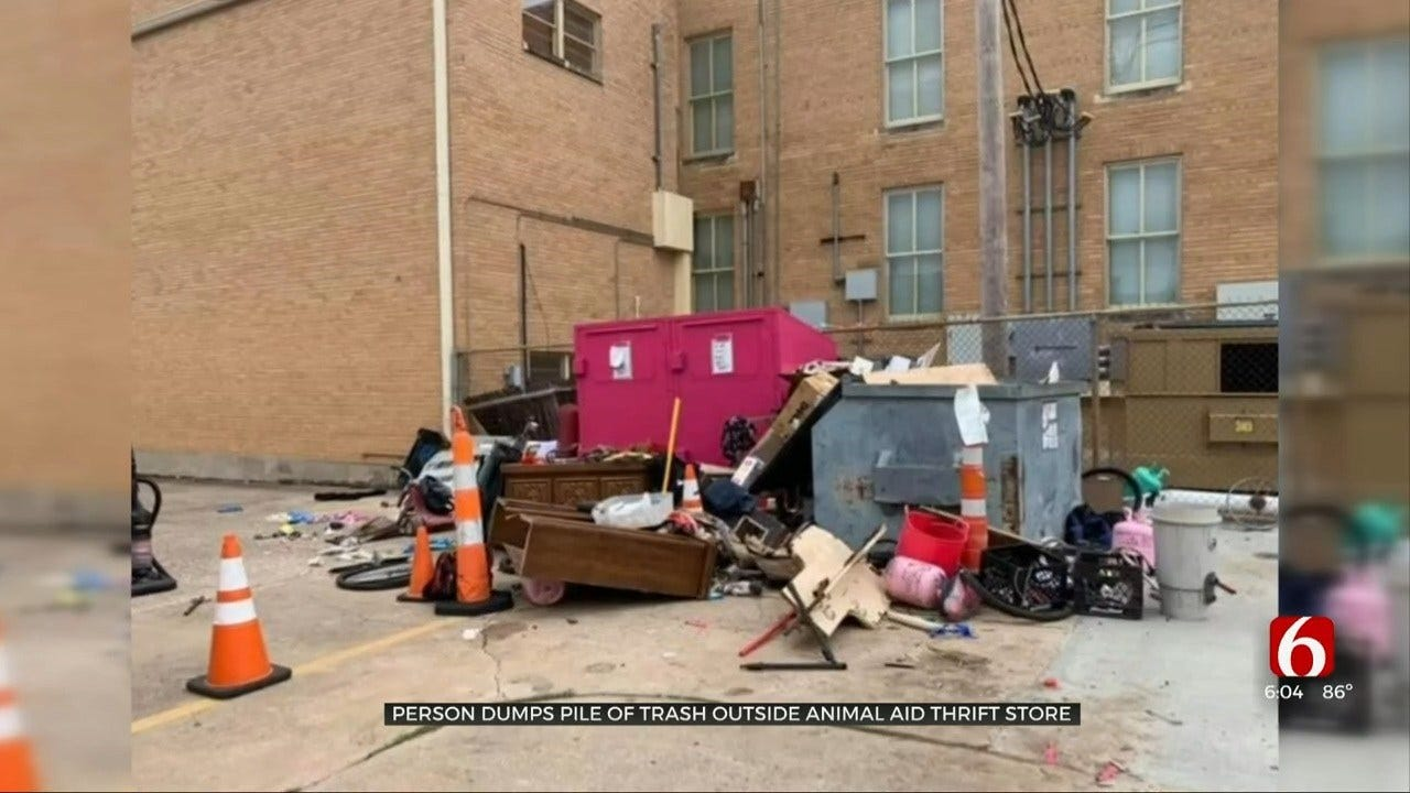 Tulsa Nonprofit Animal Aid Finds Roach-Infested Garbage In Parking Lot