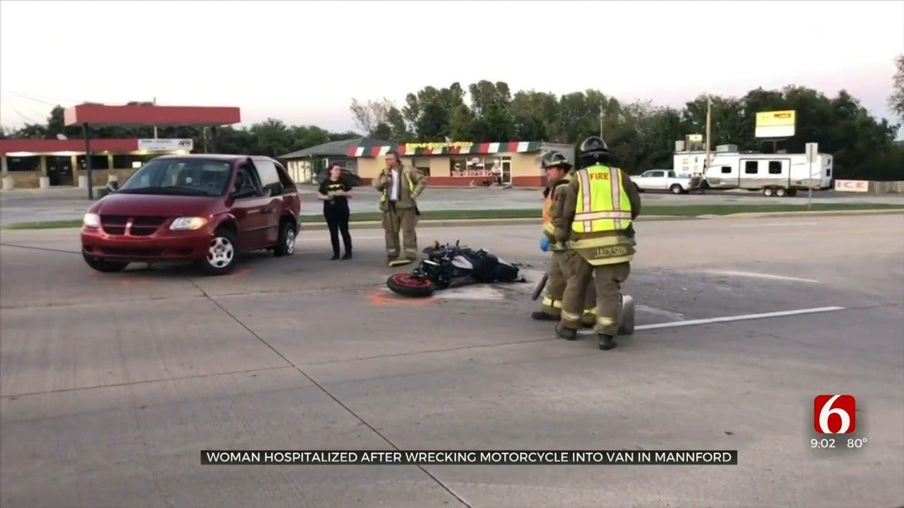 Motorcyclist Hit By Van In Mannford