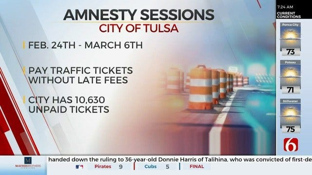 Tulsa Municipal Court Offering Traffic, Parking Ticket Amnesty Sessions
