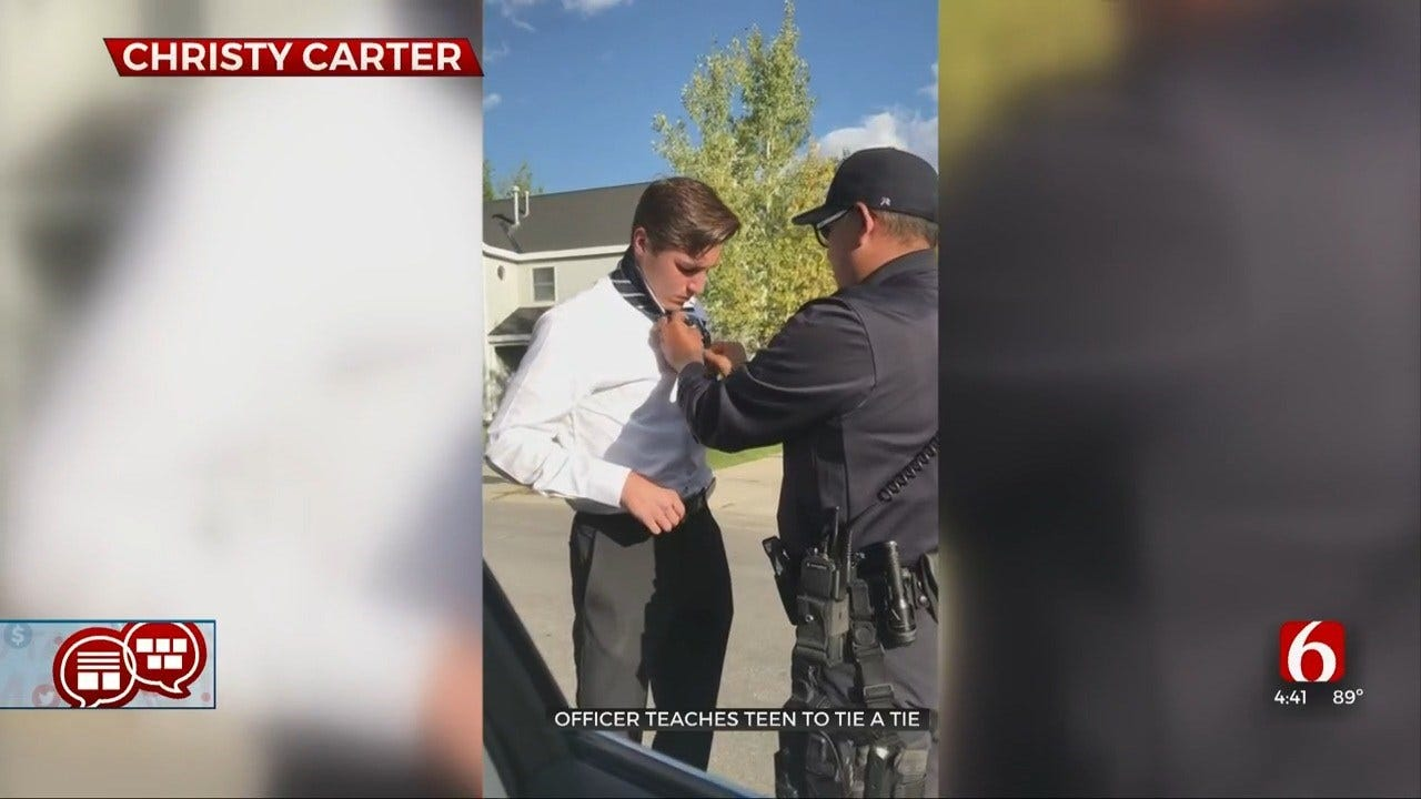 Something To Talk About: Officer Teaches Teen To Tie A Tie
