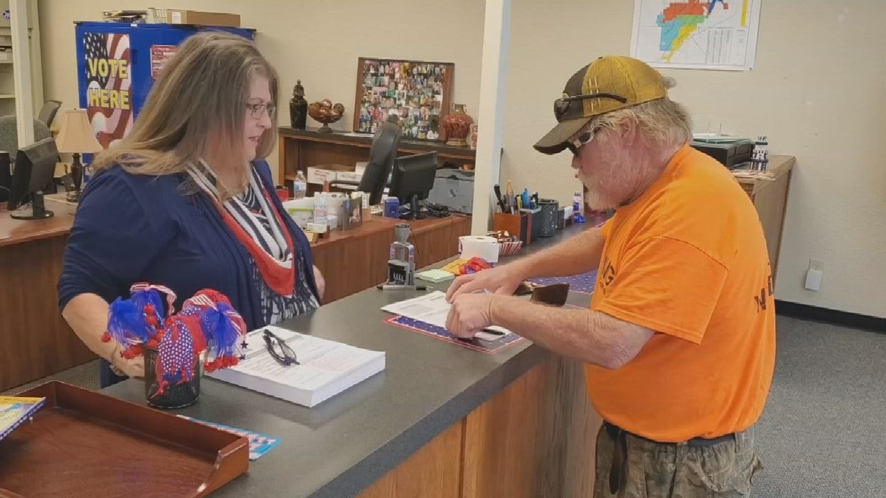 Rogers County Election Board Stays Open Late For National Voter Registration Day