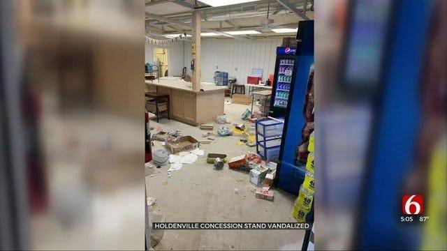 Vandals Damage Holdenville Public Schools Concession Stand