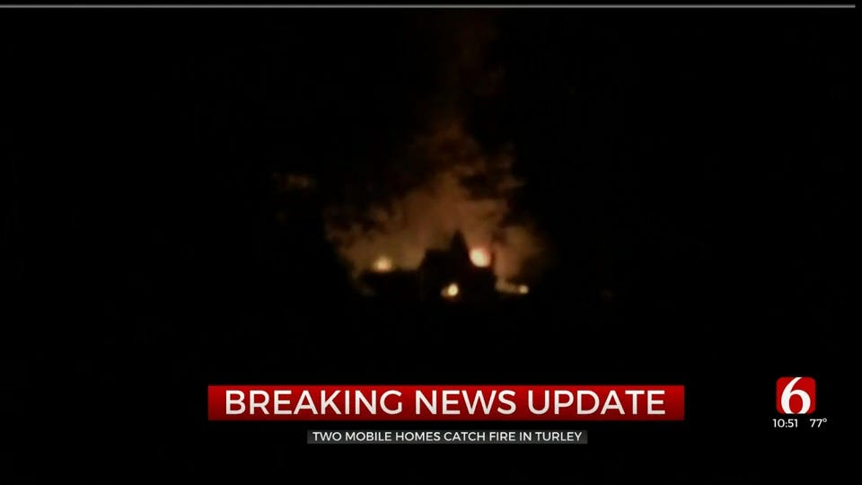 Crews Respond To 2 Mobile Homes Engulfed In Flames
