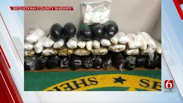 Traffic Stop Turns To Meth Bust In Sequoyah County