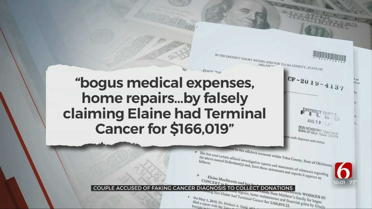 Green Country Couple Accused Of Faking Terminal Cancer Diagnosis For Donations