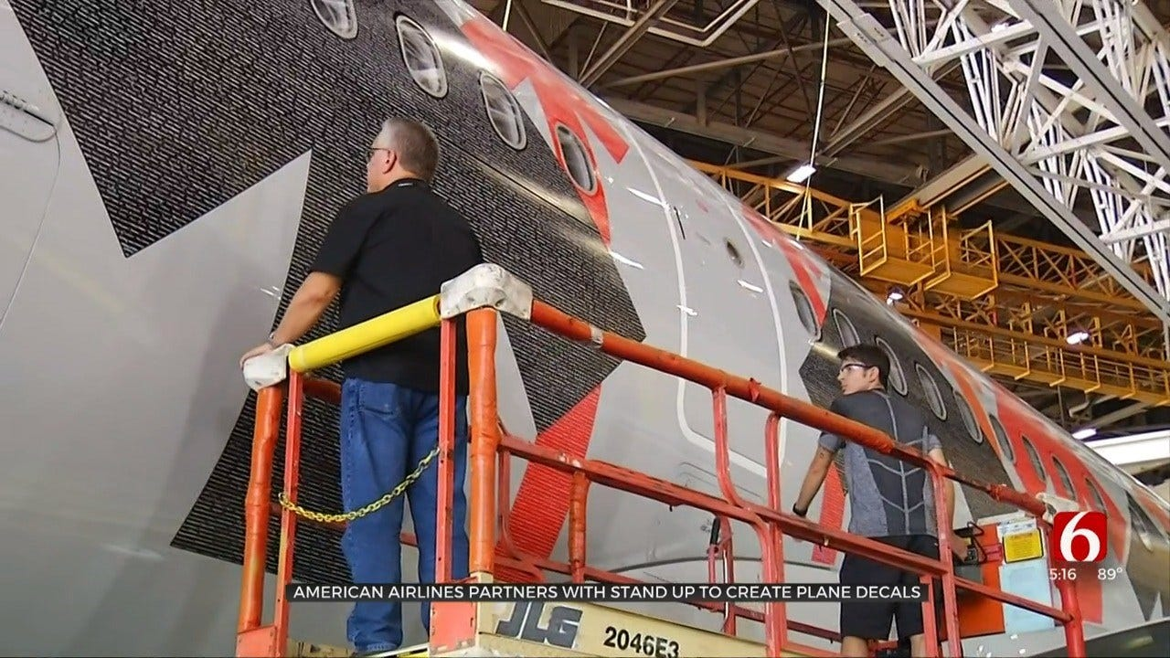 Final Touches To 'Stand Up To Cancer Plane' Finished In Tulsa