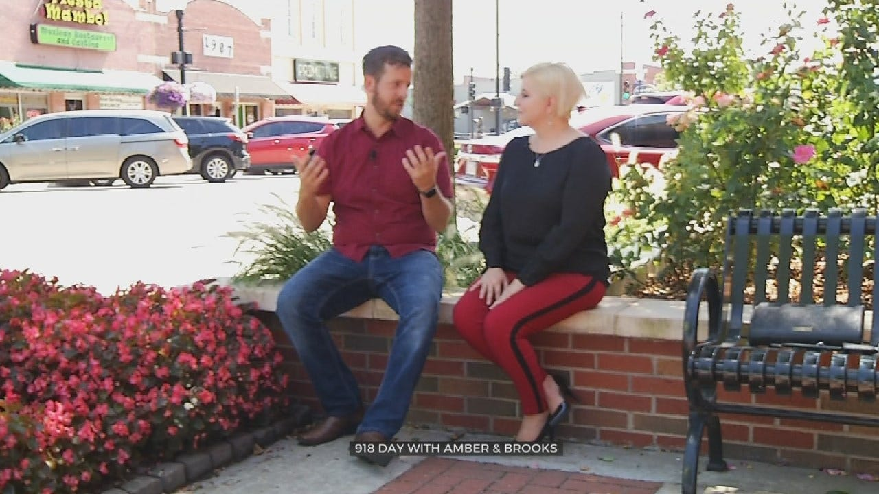 Amber & Brooks Visit Their Favorite Tulsa Locations For 918 Day
