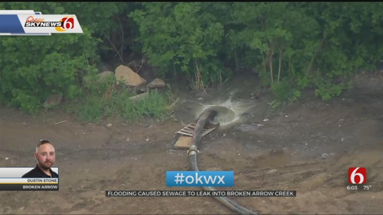 Raw Sewage Leaks Into Creek Near Broken Arrow
