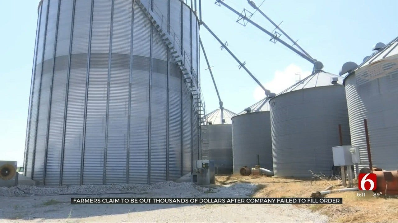 Webbers Falls Farmers Out Thousands After Grain Storage Company Didn't Fill Their Order
