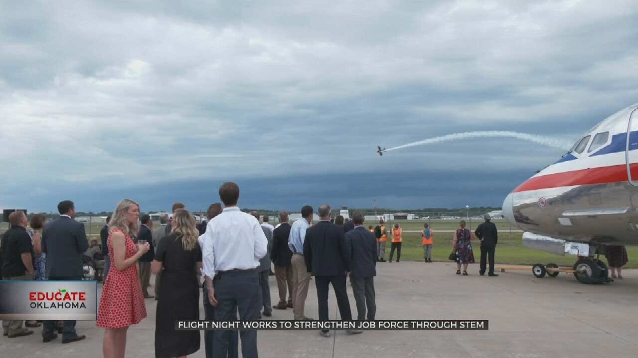 Tulsa Aviation, Education Celebrated At Flight Night