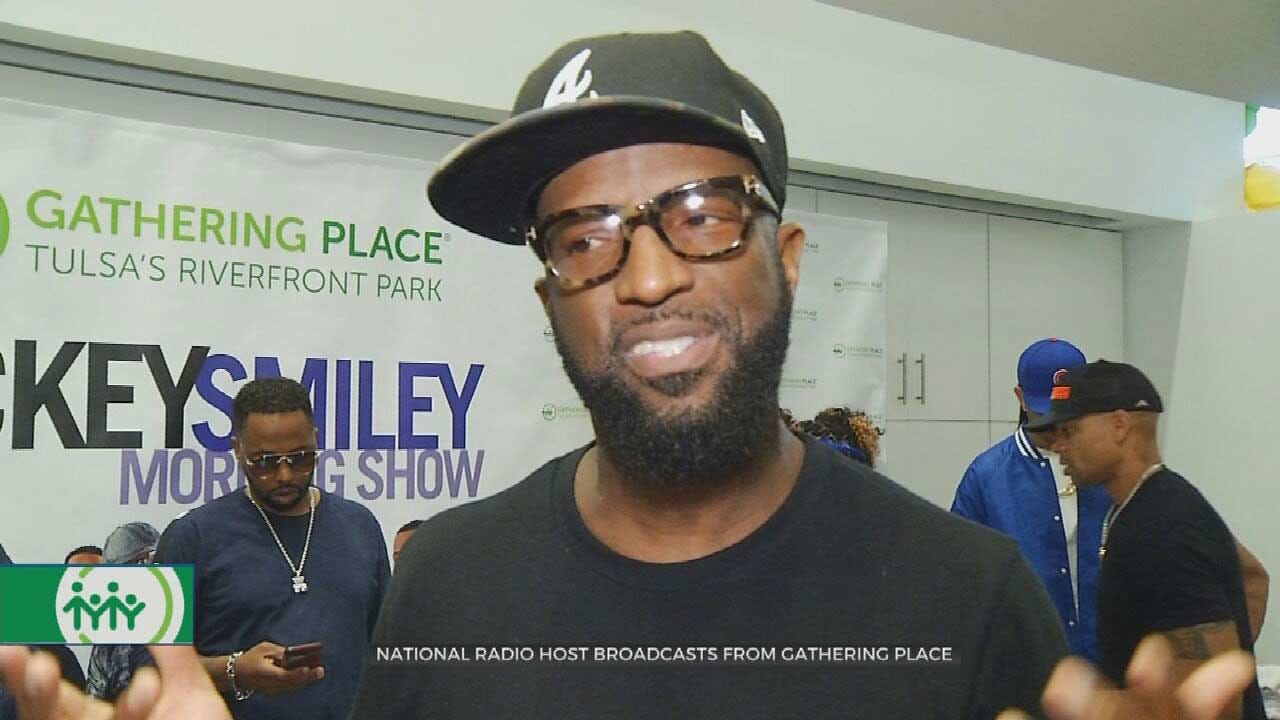 Radio Host Rickey Smiley Brings Morning Show To Tulsa's Gathering Place