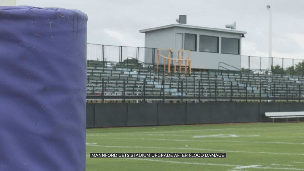 Mannford Pirates Play 1st Home Game In New Bleachers After Spring Storms