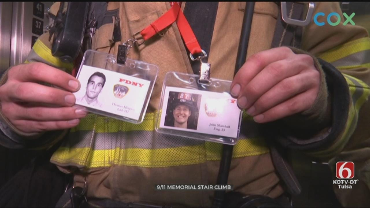 News On 6's Reagan Ledbetter Climbs Memorial Stairs With First Responders On 9/11