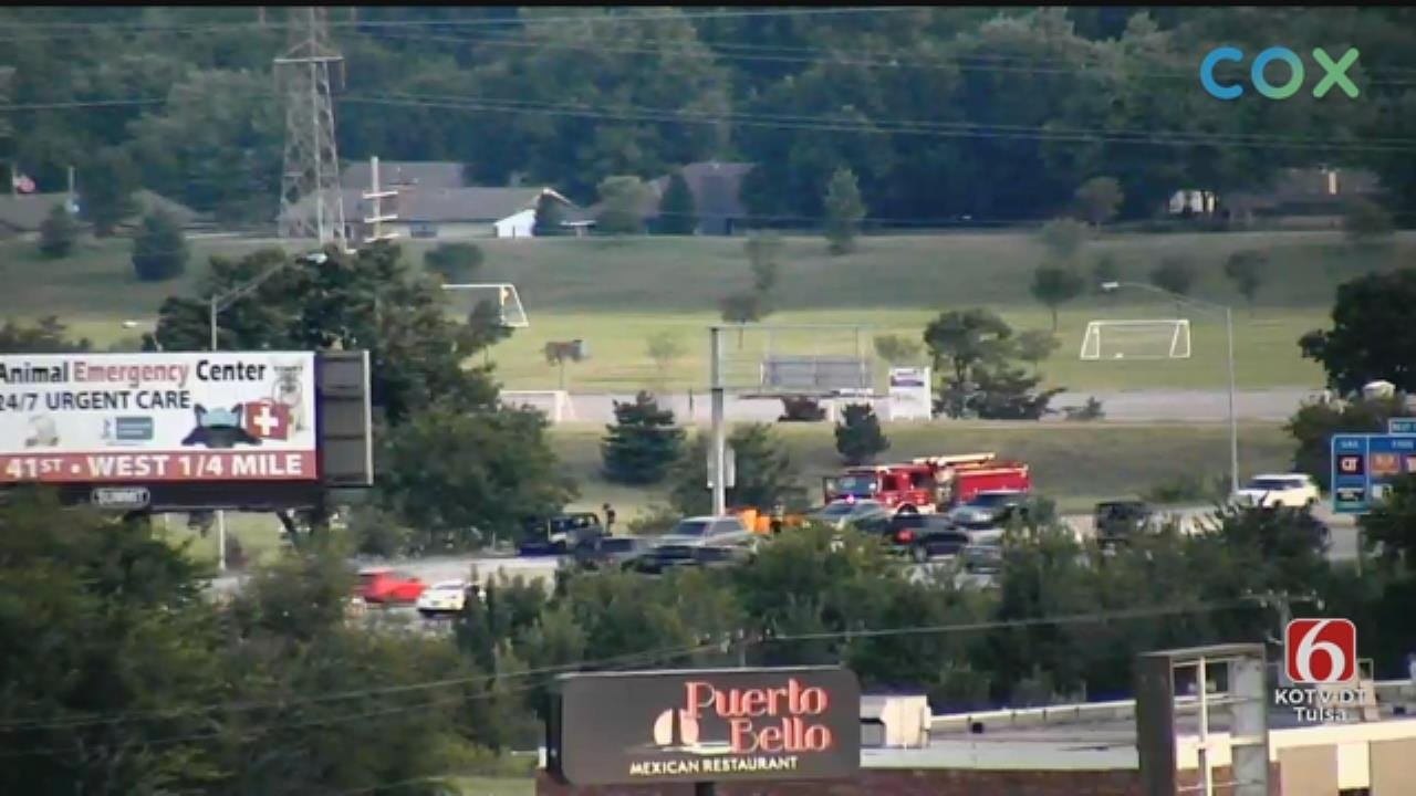 WATCH: Tulsa Firefighters Respond To Car Fire On 169