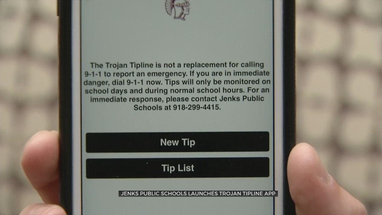 Jenks Public Schools Create Tip Line App As Concerns Rise For Student Safety