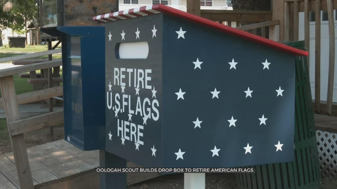 Oologah Eagle Scouts Create New Way To Retire Flags