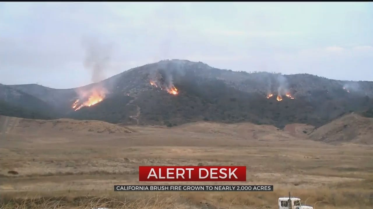 California Brush Fire Forces Residents To Evacuate