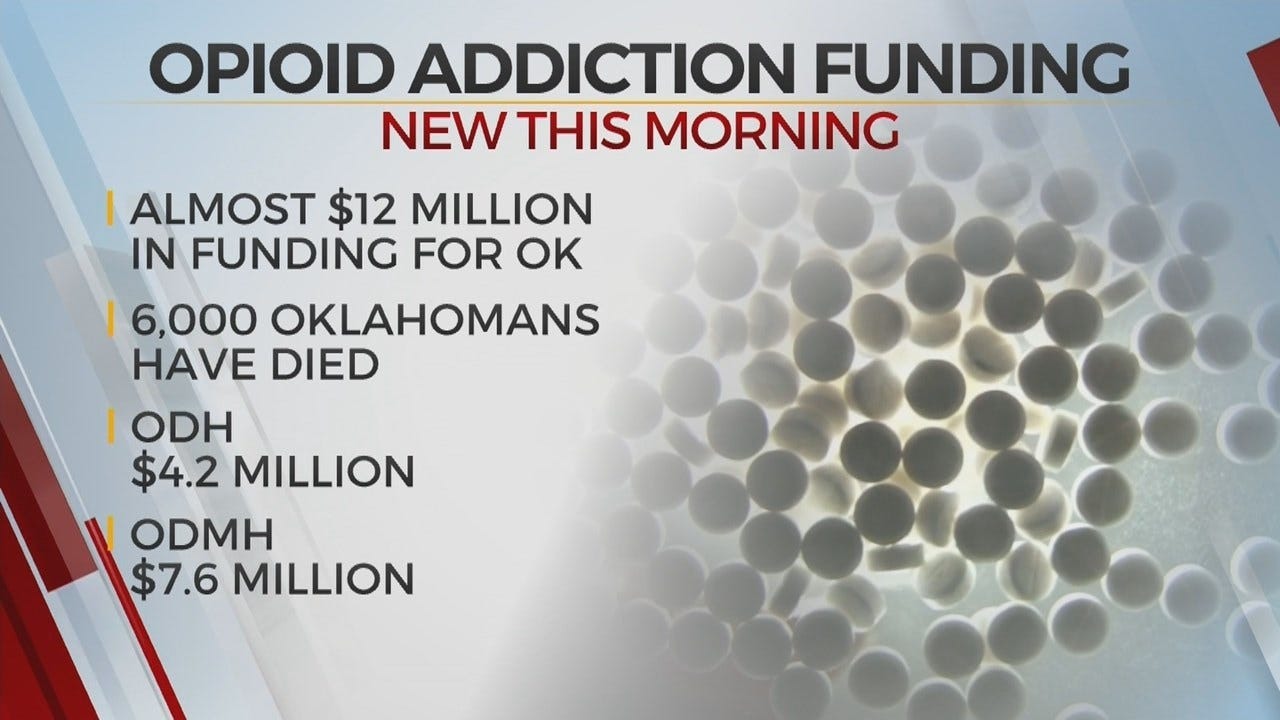 Nearly $12 Million Allocated To Help Oklahomans Facing Opioid Addiction