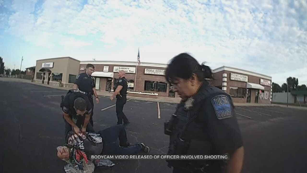 Bodycam Video Shows Arrest Of Man Tulsa Police Said Pointed Gun At Drivers