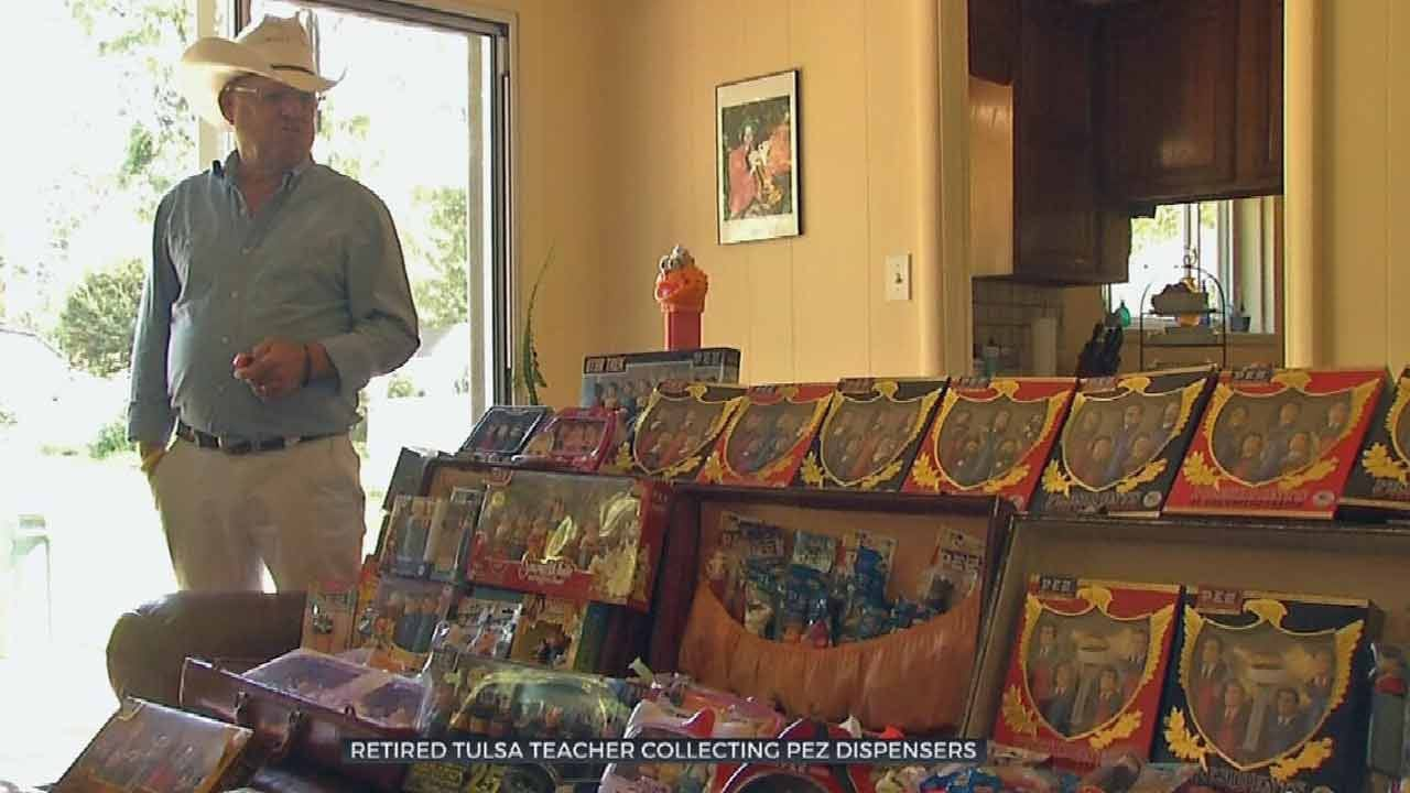 Retired Tulsa Teacher Shows Off Pez Candy Dispenser Collection