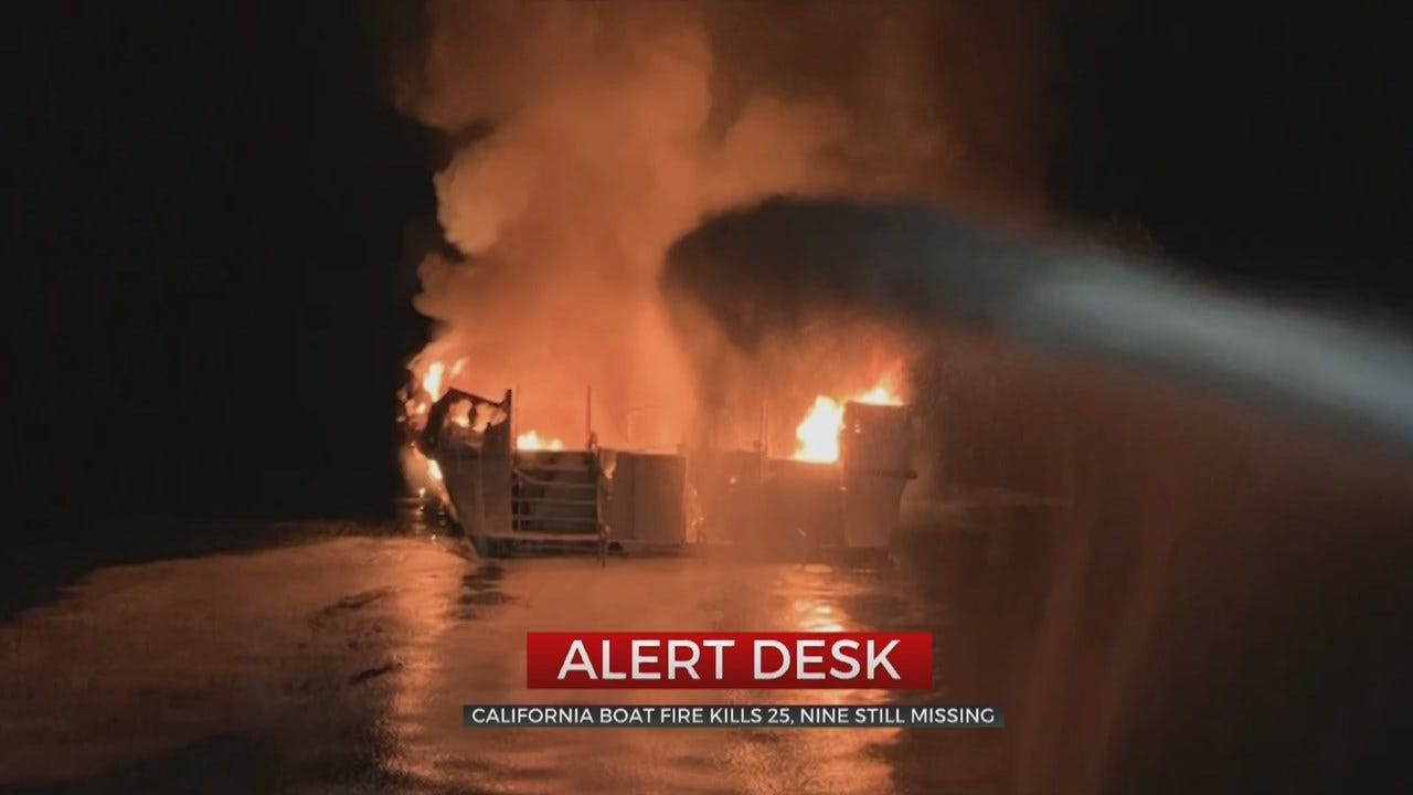 25 Dead, 9 Missing After Boat Catches Fire In California