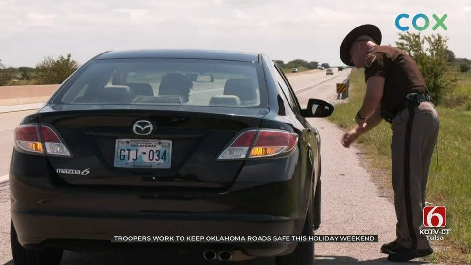 Troopers Work To Keep Oklahoma Roads Safe For Holiday Weekend