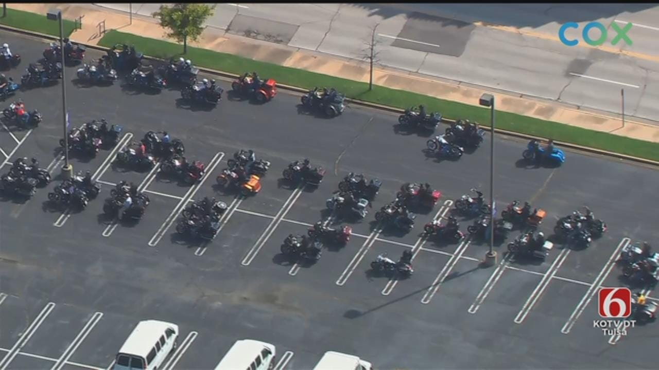 WATCH: Motorcycle Procession Honors Tulsa Myers-Duren Harley-Davidson Owner