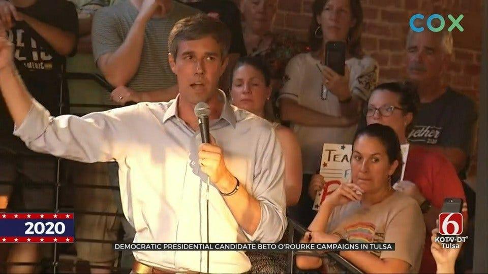 Democratic Presidential Candidate Beto O'Rourke Campaigns In Tulsa