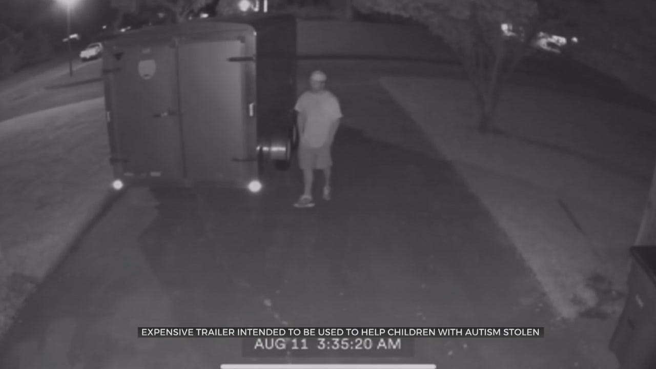 WATCH: Man Steals Trailer Meant To Help Kids With Autism