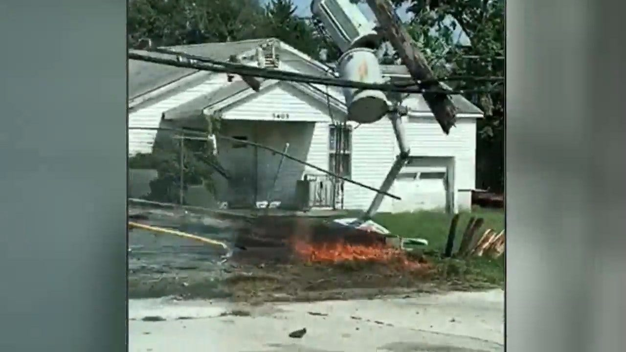 Vehicle Accident Causes Power Outage In Sand Springs