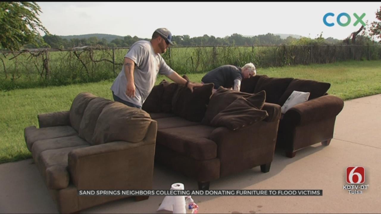 Volunteers In Sand Springs Organize Flooding Furniture Swap
