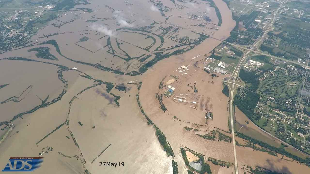 WOW: Incredible Photo Shows Muskogee Flooding From 8,000 Feet