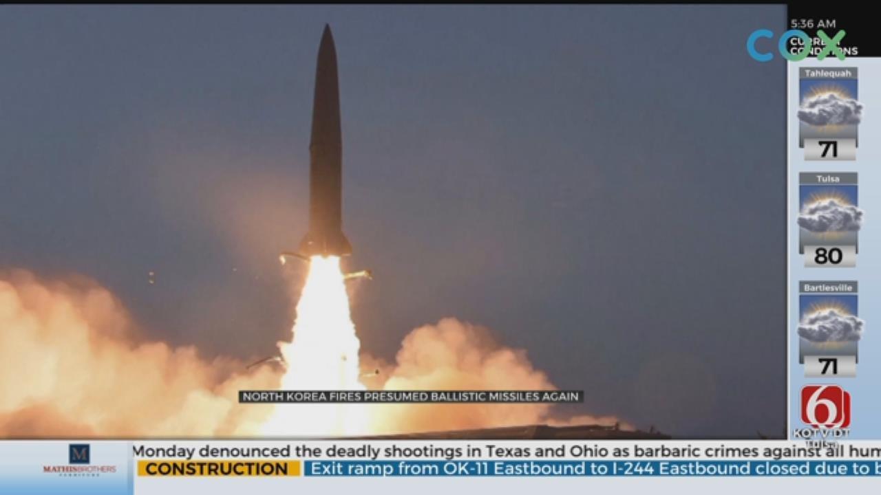 North Korea Fires More Weapons, Denounces U.S. Military Drills