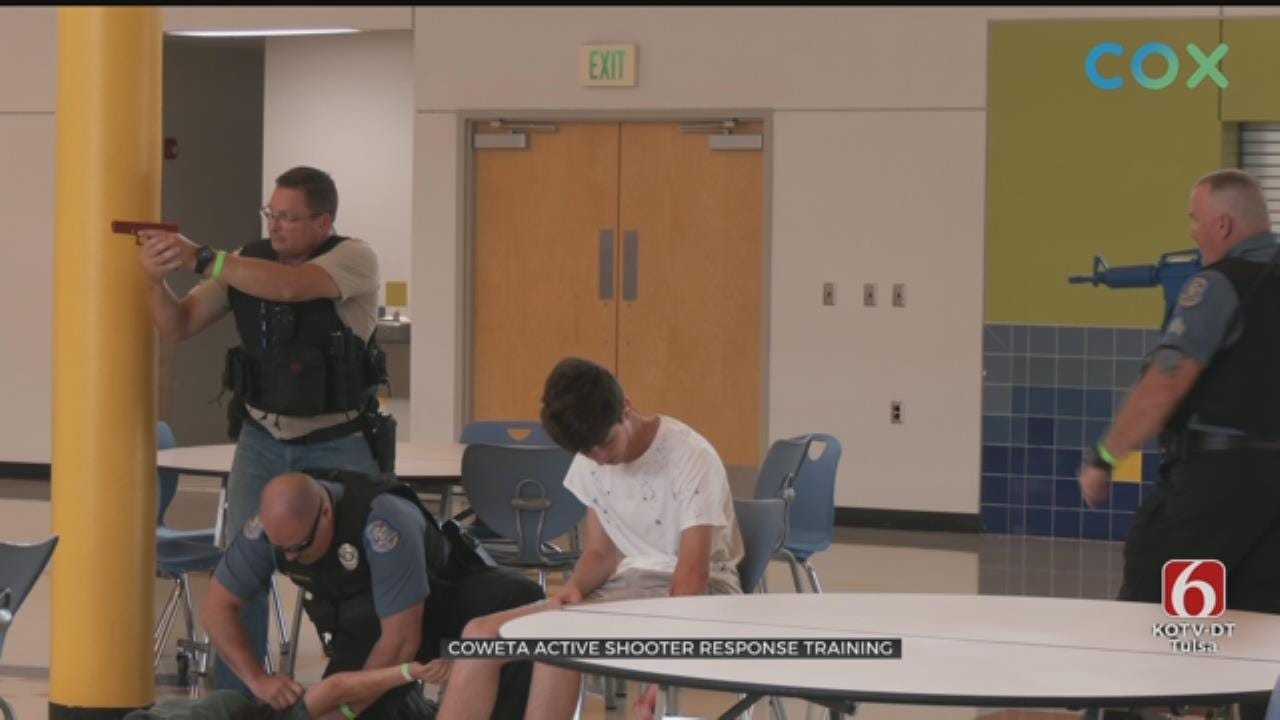 First Responders Hold Active Shooter Response Training At Coweta School