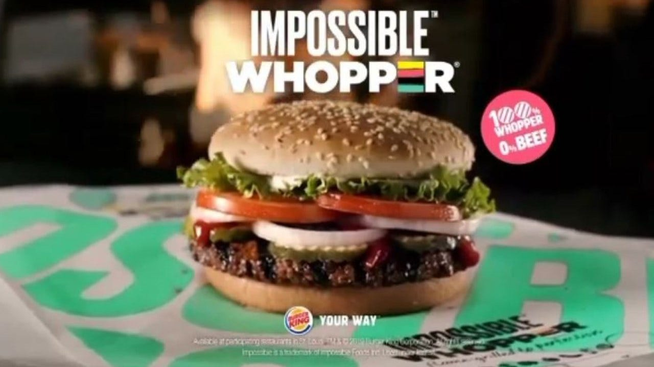 Burger King Selling Meatless Whoppers Nationwide Next Week