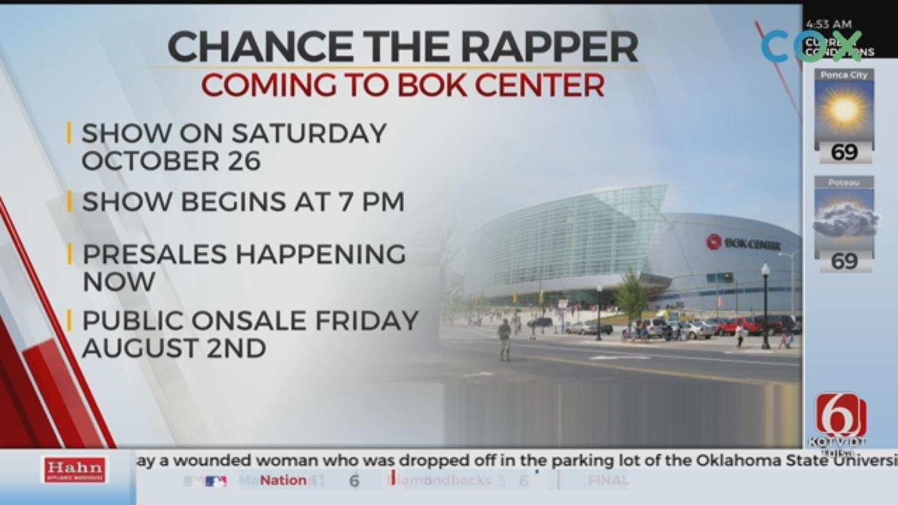 Chance The Rapper Headed To BOK Center In October