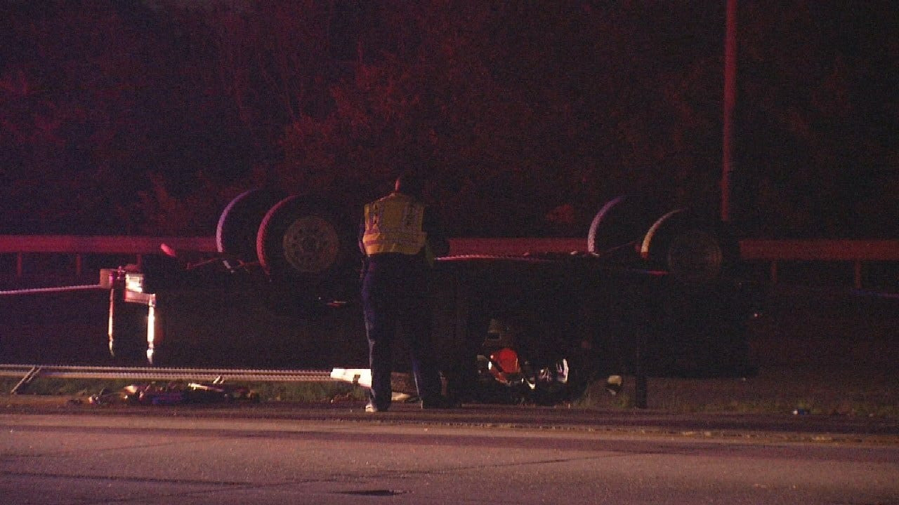 Man Sent To Hospital After Rollover Crash In Tulsa County